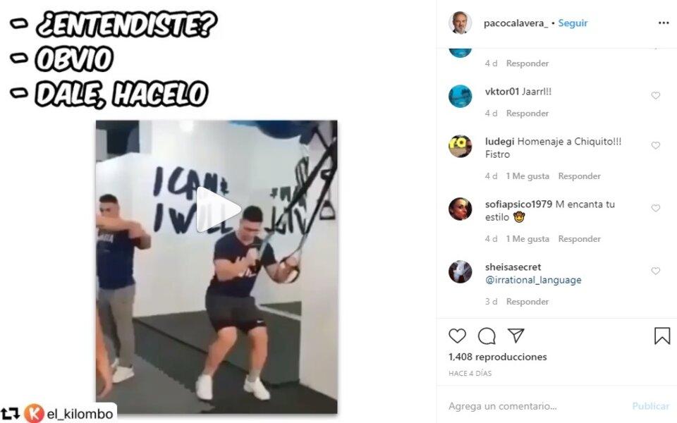 Cuenta de Instagram @pacocalavera_