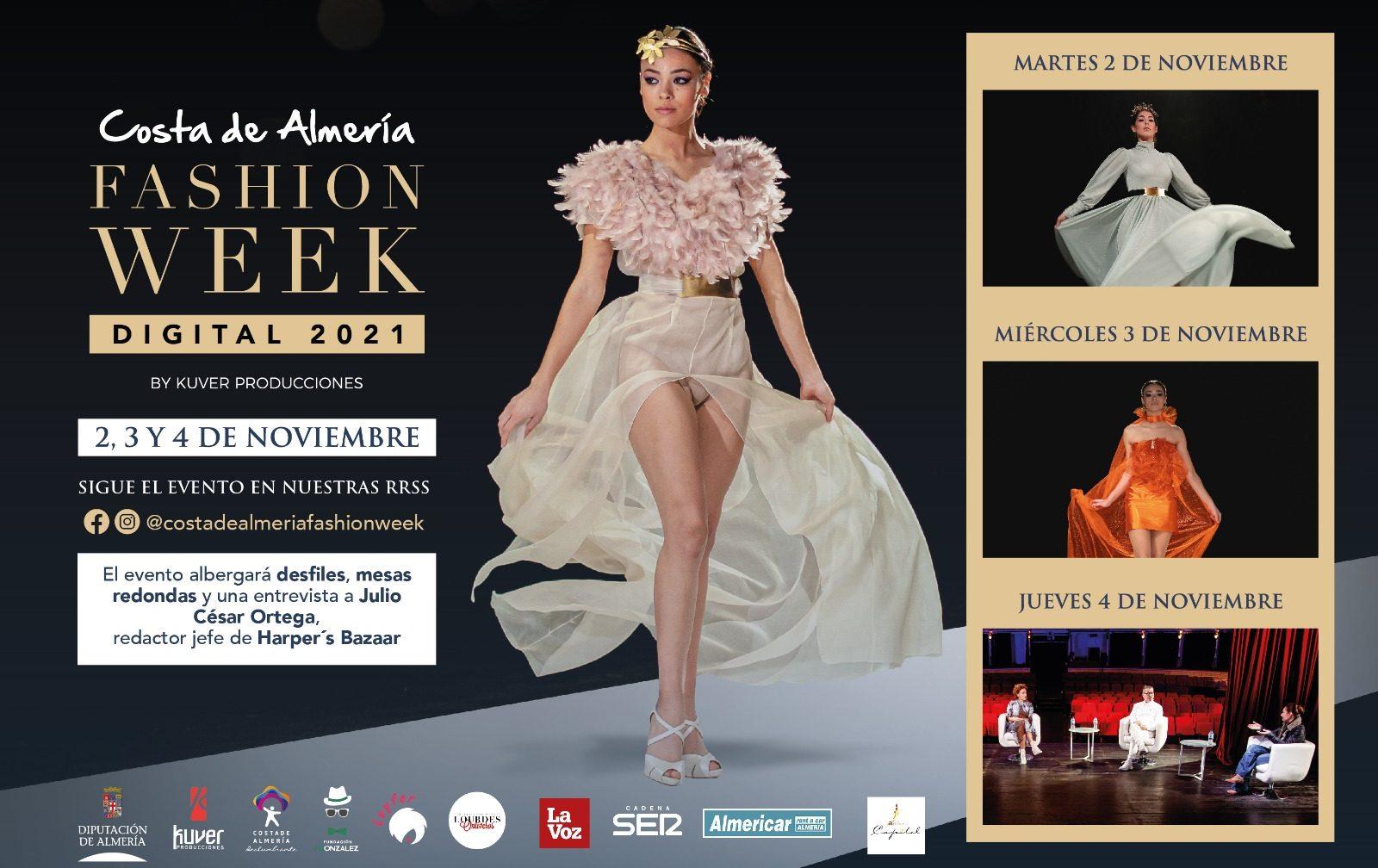 'Costa de Almería Fashion Week Digital 2021' prepara tres días de desfiles y mesas redondas